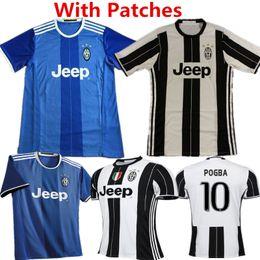 Wholesale 2016 Soccer Jersey JUventuess camisetas de futbol Paul Higuain Alvaro Morata Calcio Maglia DYBALA MARCHISIO Maillot BUFFON Football Shirt