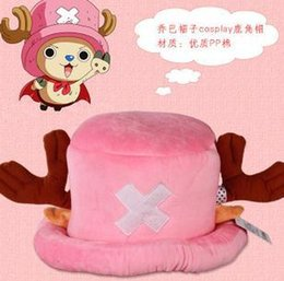 Wholesale One Piece Tony Tony Chopper Hat Cosplay Plush Pirate Hat Winter Warm Hat Classic PINk For Adults Kids