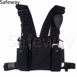 Wholesale New Nylon Two way radio Chest Pack Pocket Backpack walkie talkie bag Holder Carry Case for Motorola CP040 For baofeng UV R
