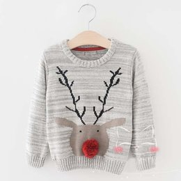 Wholesale Children Christmas Jumper Cotton - Christmas Pullover Sweaters Boy Children Pullover Boys Sweater 2016 Autumn Winter Crochet Sweater Child Clothes Kids Clothing Ciao C29020