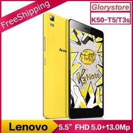 Originale Lenovo K3 Note K50-T5 K50-T3s Android 5.1 Téléphone mobile MTK6752 Octa Core double carte SIM 4G LTE 5.5inch FHD 1920x1080P 2G RAM 13MP à partir de double t5 fournisseurs