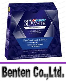 Wholesale 40 bandes Pouch Box Crest Whitestrips D Luxe Effets professionnels Blanc Blanchiment des dents Strips LLFA
