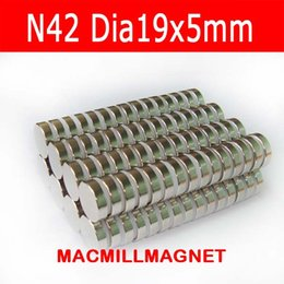 2016 Brand New 6PCS Dia19x5mm Super Strong NdFeB N42 Rare-earth Round Neodymium Magnetic Disc,Free Shipping