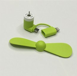 Wholesale Mini USB Fan in for Iphone and Android Smart Phone Port Micro USB Mobile Phone Cooling Fan Multi Function