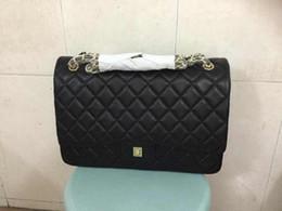 2016 lady's genuine lambskin leather flap bag,33cm,maxi size,586-01,high quality lambskin,good price