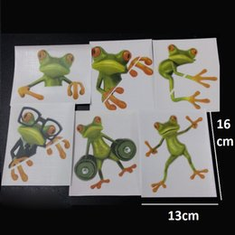 Wholesale 500pcs Crazy DIY Frog Toilet Sticker Paste Smile Furniture Decorative Bathroom Wall Stickers D Personality Home Decor ZA0635