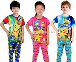 Wholesale Flamingo Finding Nemo Dinosaur Minions Frozen Kids Pajamas Sets Baby Homewear Suit Boys Girls Clothes Pants poke Children Clothing