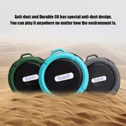 C6 Waterproof Bluetooth Speakers Hook Up Shockproof Speakers Outdoor Sport Wireless Speakers Waterproof Shower Car Speakers Built-in Mic