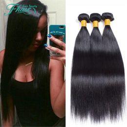 "Mink Indian Hair Straight 3 Bundles 7A Grade 100% Unprocessed Human Hair Indian Hair Weave Bundles Straight Hair 10""-30"" Inch Length"