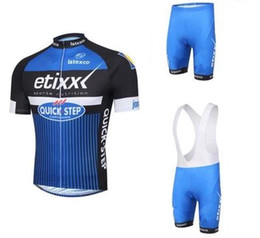 new 2016 Etixx Quick step Cycling Jerseys short Jersey Bicycle Breathable cycling clothes Bicycle Clothing Lycra GEL pad