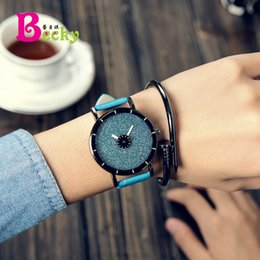 Fashionable Personality Simple Leather belt Large dial Star Teens Boy Girl Lady Watches
