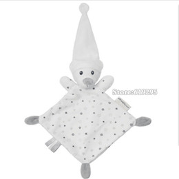 Wholesale Bear Baby Comforter Toy Cute Cartoon Animal Soft Plush Multifunctional Saliva Towel To Appease The Toy A Molar Tooth Baby Care
