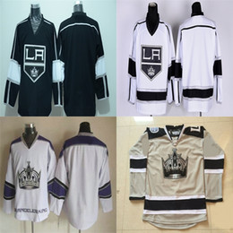Factory Outlet Los Angeles Kings Blank Jersey Black White Gray Camo Stadium Series LA Kings Blank Ice Hockey Jerseys Alternate Embroider Lo