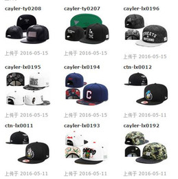2016 New hot sale nice Cayler & Sons Team Snapbacks hats caps Snap back Baseball hat cap hats caps Mixed Order Size Adjustable
