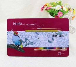 Wholesale A869 colour pencil Write painting Tin Water soluble pencil Student children Non toxic Secret Garden Coloring Artist Sketch