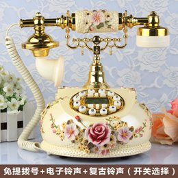 Wholesale Antique telephone fashion rustic vintage telephone quality home telephone Handsfree backlight Caller ID
