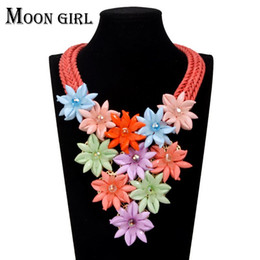 Big statement necklace classic New design fashion jewelry display crystal Beaded flower choker Necklace for women accessories
