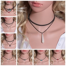 Wholesale 20pcs Pearl Leather Choker necklace Many styles Various of Pearl Handmade leather Choker DIY Leather Choker Pearl Jewelry P2