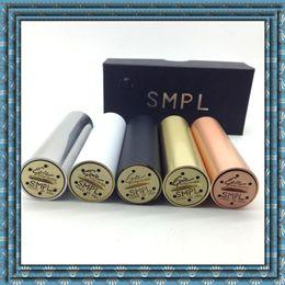2015 nuevo SMPL MOD e-cigs 510 hilo de rosca del vaporizador Negro de cobre amarillo de cobre inoxidable 18650 Mecánico gran humo de la MOD de alta calidad DHL libre desde cobre vaporizador mod proveedores