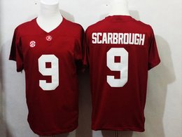 Wholesale 9 Bo Scarbrough Nick Saban Ridley Alabama Crimson Tide College Football Jerseys New Style Cheap Derrick Henry Stitched Jersey