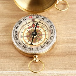 Wholesale New Outdoor Aluminum Classic Pocket Watch Style Bronzing Antique Camping Compass degree for Travel Hiking G50