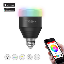 MIPOW Bluetooth Smart Bulbs Dimmable Color Changing LED Lights yeeLight Home Party Decorative Smart Lights With APP Control