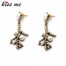 Wholesale Shijie Statement Trendy indian Elegant Antique Branch Drop beaded big Factory Bridal ear rings Jewelry Earrings