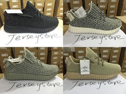 Wholesale with Box New product Moonrock Oxford Tan Pirate Black White Full Black Running shoes snakers Kanye West boost US5 US12 Stock