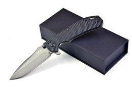 Wholesale black G10 titanium alloy handle ZT Hinderer D2 Blade Titanium Handle Custom G Front Flipper Folding Knife Selected Dream EDC