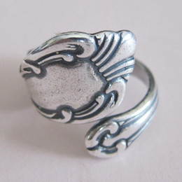 Antiqued Silver Spoon Ring Adjustable Ring Thumb Fashion Jewelry Ring