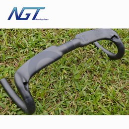 Wholesale NGT Full Carbon Fiber Bicycle Road Handlebar Bike Handle Bars Carbon Handlebar Road Bicycle Parts Resist wind Design