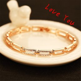 Hot Selling Korean Queen Style Crystal Charm Bangles Luxury Brief Gold Plated Bangles & Bracelets Jewelry