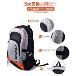 Men women backpack Outdoor High capacity Shoulders sport Genuine Multifunction tennis racket Polyester Tennis racket badminton racket bag