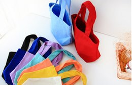 Free Shipping Via FedEx Wholesale Monogrammable Women Canvas Lunch Bag, Lunch box, Cotton Tote bag , Shopping Bag, Luggages EAD-008