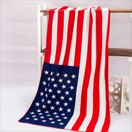 Wholesale 60pcs Beach Towels USA Flag Bath Towel United Kingdom Canada Flag Towels Children Gift For Kids cotton bath towel x140cm
