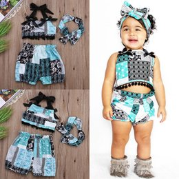 Wholesale pieces Newborn Baby Girl Tops T shirt Shorts Pants Head Band Outfits Set Clothes M