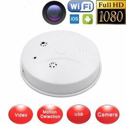 Wholesale Surveillance Cameras Smoke Detectors - Wireless HD 1080P Wifi P2P Hidden Camera Smoke Detector Security DVR Spy Hidden Mini Camera Video Audio Recorder DVR Surveillance Camcorder