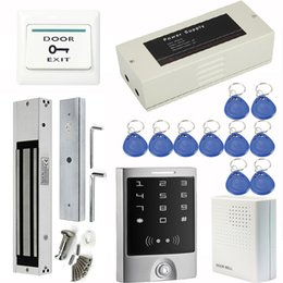 Wholesale Access Control System With LBS kg Electromagnetic Lock Power Supply Control Doorbell Exit Button RFID Cards F1252Z