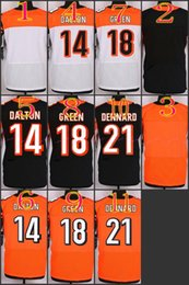 Wholesale NIK Elite Football Stitched Bengals Blank Andy Dalton AJ Green Dennard Black Orange White Jerseys Mix Order