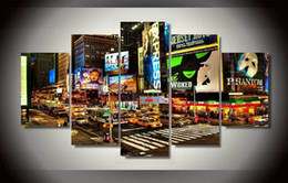 5 Piece HD Printed New York times square Painting on canvas room decoration print poster picture canvas framed Free shipping