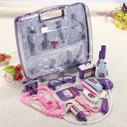 Kids Children Pretended Doctor's Nurse Medical Play Set Carry Case Kit Roll Play Toy Gift CWF