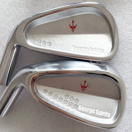Hot sale New mens left handed Golf Heads George spirits Forged Golf irons Heads 3-9P Irons clubs heads Free shipping