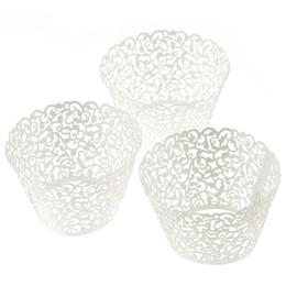 100 Cake decorating mould Filigree Little Vine Lace Laser Cut Cupcake Wrapper Liner Baking Cup