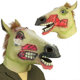 Zombie Horse Mask Halloween Horror Animal Mask Party Masks Cosplay Halloween Mask Theater Prop Latex Rubber Free Shipping