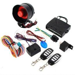 Compra Online Sistema de alarma a distancia un coche-NUEVO Sistema universal de la seguridad de la protección del sistema del vehículo de la alarma del coche del HA-100A 1-Way Sirena de la entrada sin llave + 2 ladrón teledirigido