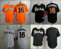 Wholesale Jose Fernandez Jersey Miami Marlins Cool Base Uniforms White Black