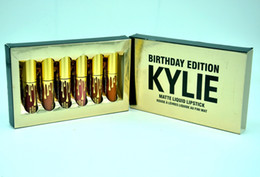 Wholesale HOT Kylie Cosmetics Mini Matte Lipstick Limited Birthday Collection Leo Creme Shadow DHL GIFT