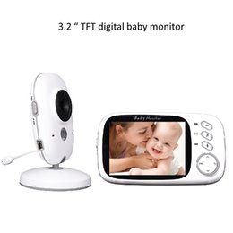 3.2 inch Color Wireless Video Baby Monitor 2 Way Talk Nigh Vision IR LED Baby Camera Monitor with 8 Lullabies
