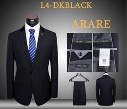Suit high quality latest coat pants 2 piece men black dress suits set classic slim fit business blazer masculino