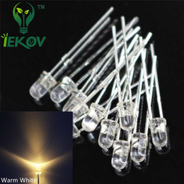 5000pcs lot High Quality 3MM Round Top Warm White leds 3mm Ultra Bright LEDs light Emitting Diodes Electronic Components Wholesale